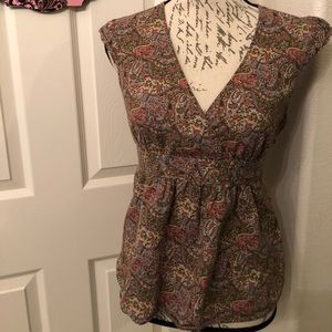 LUCKY BRAND BABY DOLL TOP SIZE M